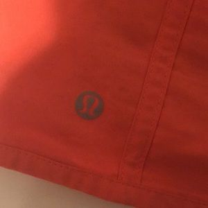 lululemon athletica Shorts - Bright orange tracker short lululemon shorts 4""